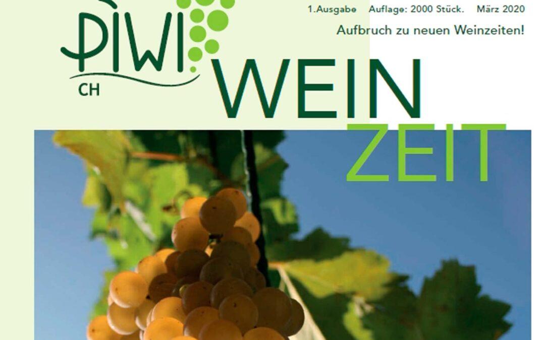 erste Ausgabe PIWI CH Wein Zeit